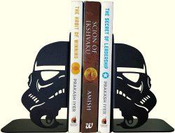 Star Trooper Mask Themed Decorative Metal Bookend by HeavenlyKraft