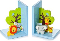 Wooden 3D Safari Themed Animal Bookend
