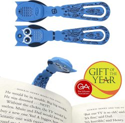 Flexilight Pals LED Reading Book Light Clip On Adjustable Travel Bookmark Lamp Gift (Owl)